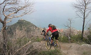 Riding in Finale Ligure on the Italian Riviera