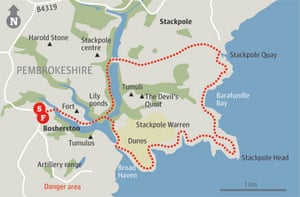 Map of Bosherton