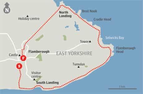 Map of Flamborough