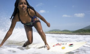 Surfing at Jamnesia Surf Camp, Jamaica