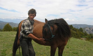 Bertrand Cauchy the 'horse whisperer of the Pyrenees' in Spain