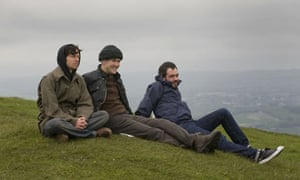 British Sea Power on Firle Beacon, East Sussex, with Guardian writer Alexis Petridis
