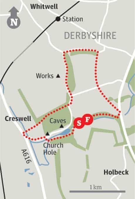 Map of Creswell walk
