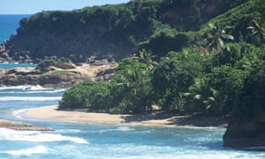 White Sand beach at Pointe Baptiste, Dominica