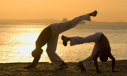 People doing Capoeira in Brazil