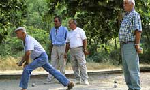 Playing petanque with locals in Verdon, France