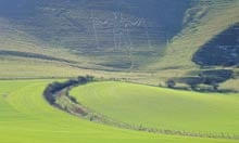 Long Man of Wilmington, South Downs, Sussex