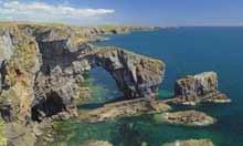 St. Govan's Headland, Pembrokeshire Coast National Park, Wales, UK