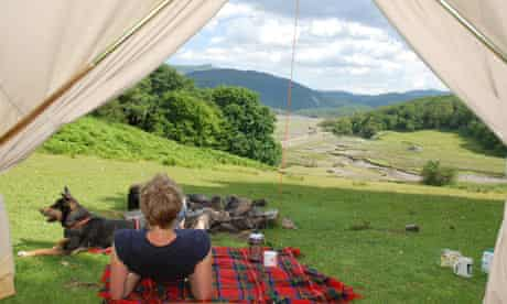 Camping in Graig Wen, Snowdonia Wales