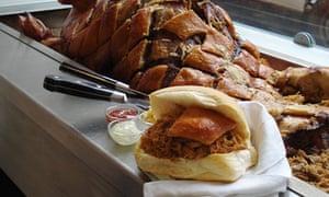 Oink cafe, hog roast, Edinburgh