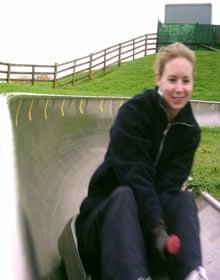 Tobogganing at Swadlincote Ski Centre