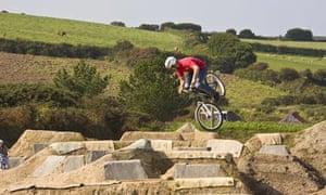 Chris Moran mountain biking in Cornwall
