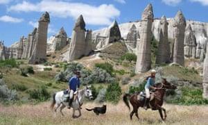 Alex buxton horseriding in, Cappadocia, Turkey