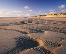 Formby beach, Lancashire, UK
