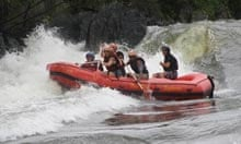 Rafting at the source of the Nile in Uganda