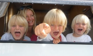 Family campervan holiday in France