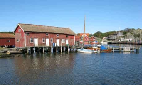 Boathouses, Koster Islands, Sweden's marine national park