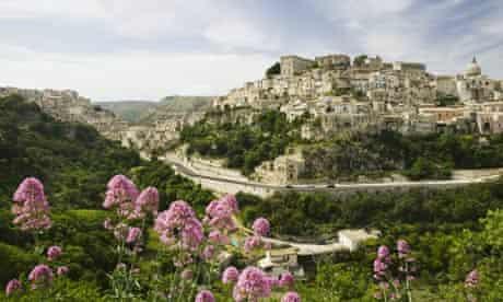 Italy, Sicily, Ragusa skyline