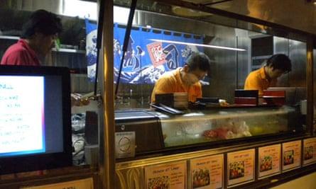Sushi gourmet truck in LA