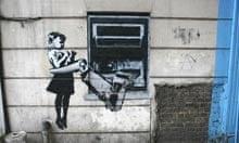 Banksy stencil  at Exmouth Market, London