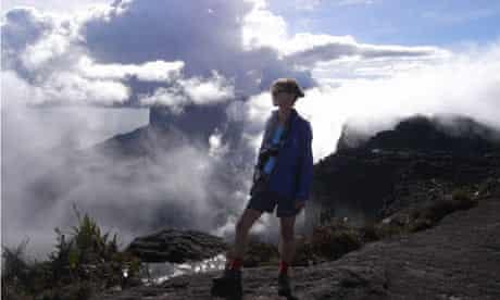 Woman on top of Roraima mountain, Venezuela