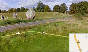 The Avebury Stones on Street View