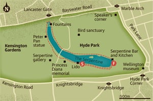 Map Of Hyde Park Walking route: Hyde Park, London | Travel | The Guardian