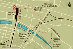 Street Map Of London City Centre.Walking Route Glasgow City Centre Travel The Guardian
