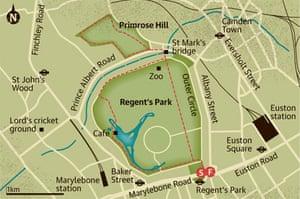 Regents Park Map Walking route: Regent's Park – Primrose Hill, London | Travel