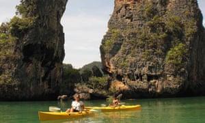 Kayaking around the Andaman coast, Thailand