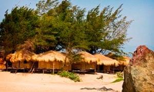Goan beach huts.
