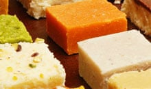 Indian sweets at Mithas restaurant, Leicester