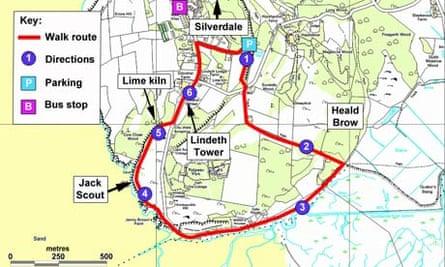 Silverdale walking map, Lancashire