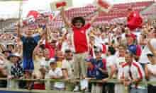England cricket fans at the Ashes, Perth