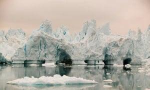 Icebergs from Sermeq Kujalleq glacier, Greenland