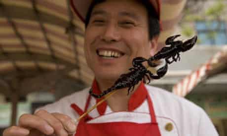 Deep fried scorpion snacks