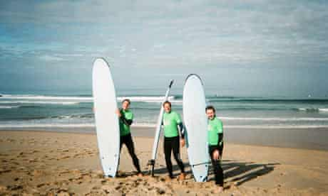 Paul Simon and friends surfing in Portugal.