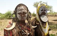Mursi tribeswomen, Omo Valley, southern Ethiopia