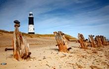 Beach and lighthouse at Spurn Head