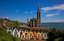 Terrace of colourful Georgian Houses in Cobh, County Cork