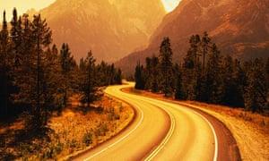 Road Winding Through Tetons
