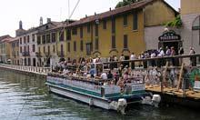 La Darsena's canals, Milan, Italy