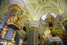 The interior of the Cathedral of SS Peter and Paul, St Petersburg, Russia