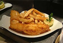 Coleman's fish and chips, South Shields, nr Newcastle