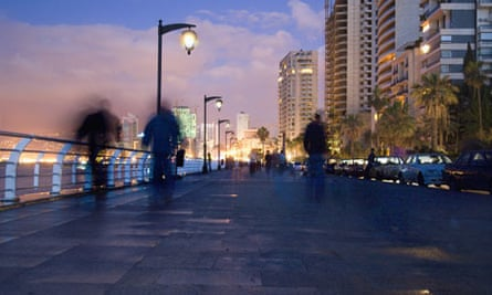 View of Beirut from Corniche