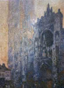Rouen Cathedral Facade and Morning Effect by Claude Monet