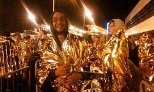 Benji Lanyado arrives in Calais