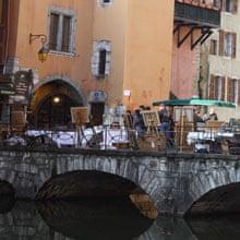 Annecy flea market, France