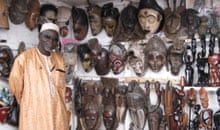 Wood carvings at Marché Kermel, Senegal
