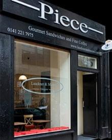 Piece restaurant, Glasgow